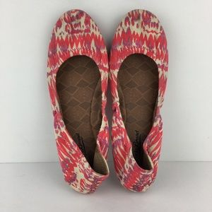 Lucky Brand Colorful Pink/Cream Flats Size 7.5